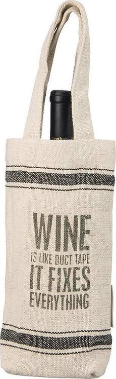 """Wine Fixes Everything"" Wine Bag"
