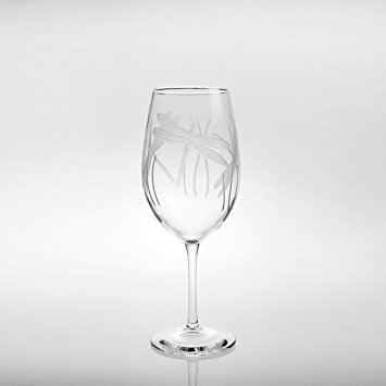Etched Dragonfly Glassware