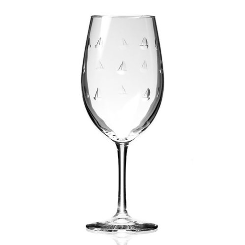 Etched Sailing Glassware