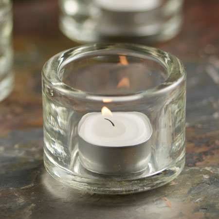 Glass Block Tealight Holder