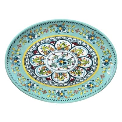 Melamine Serveware - Floral Turquoise