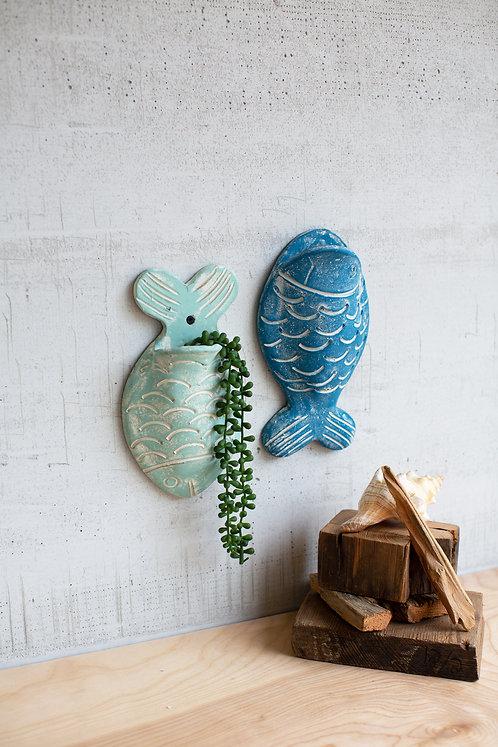 Clay Fish Wall Planter