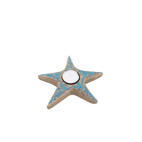 Wood Starfish Tealight Holder