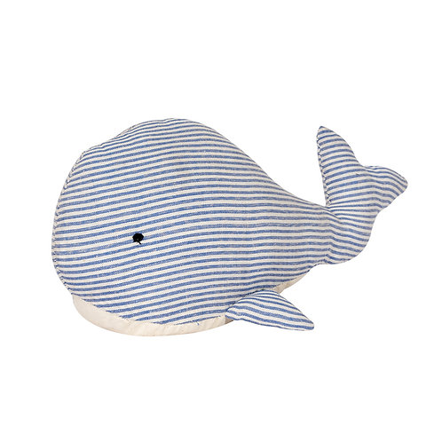 Striped Whale Door Stop