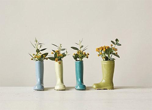 Stoneware Boot Vase