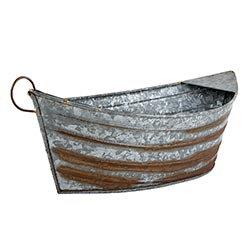 Tin Boat Tub / Planter