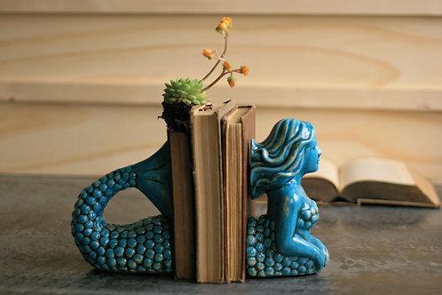 Ceramic Mermaid Bookends
