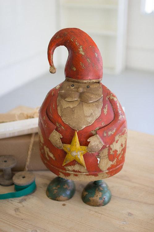 Recycled Metal Santa
