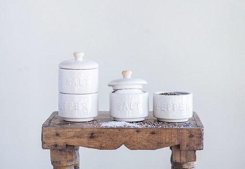 Stackable Salt & Pepper Pots