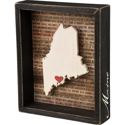 Maine State Shadow Box