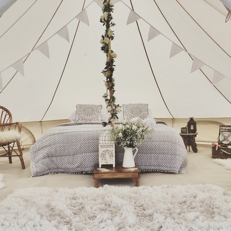 Luxury bell tent hire - festival weddings sussex