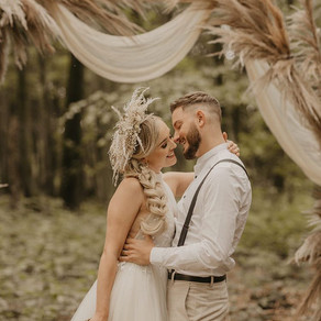 Bohemian wedding in the woods!