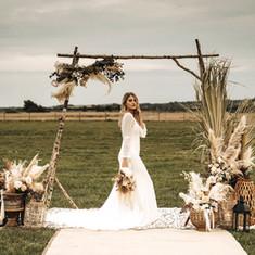 Prop hire - birch wedding ceremony arch