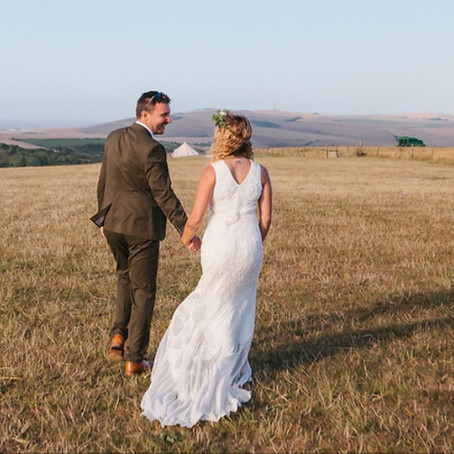 OUR WEDDINGS - Hannah & Mark - South Downs National Park Farm Wedding