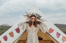 Bell tent hire - boho bride