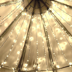 Tipi fairy lights
