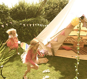 Childrens bell tent parties hire in East
