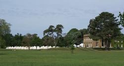 Bell tent village wedding