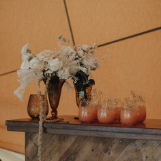 Rustic wooden bar - tipi style