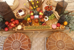 Chill out bell tent - grazing table