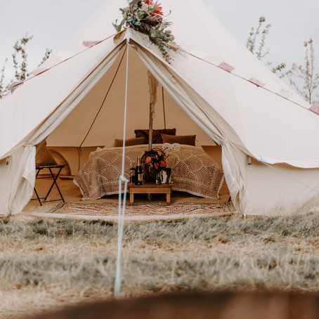 Bell tent hire luxury glamping - Brighton Bell Tents