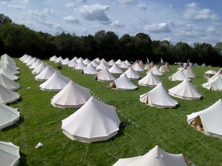 Wedding glamping - bell tent villages
