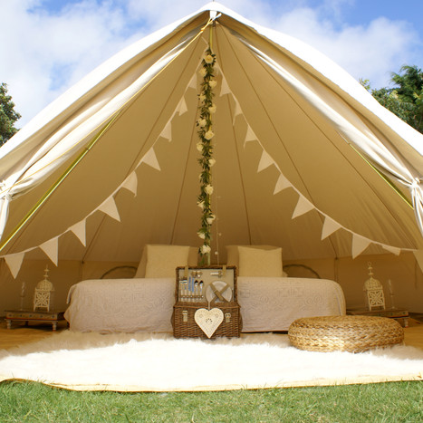 Wedding glamping bell tent hire Sussex