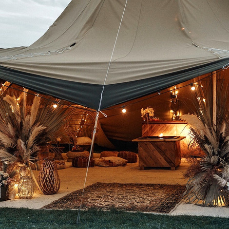 Tipi wedding interior
