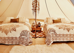 Luxury bell tent hire - Sussex, Kent and Surrey
