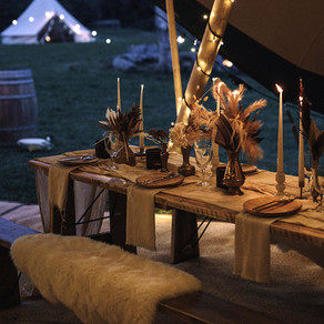 Micro wedding packages | Garden parties to field weddings | Go BIG with a micro tipi wedding!
