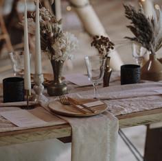 Rustic tablescapes