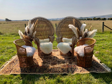 The rattan boho collection - furniture & prop hire for festival weddings & events