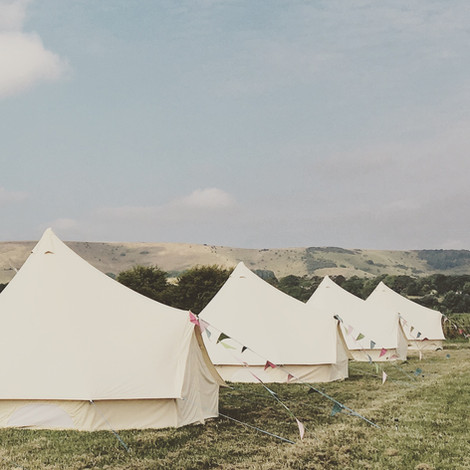 Bell tent hire - Sussex - The Party Field