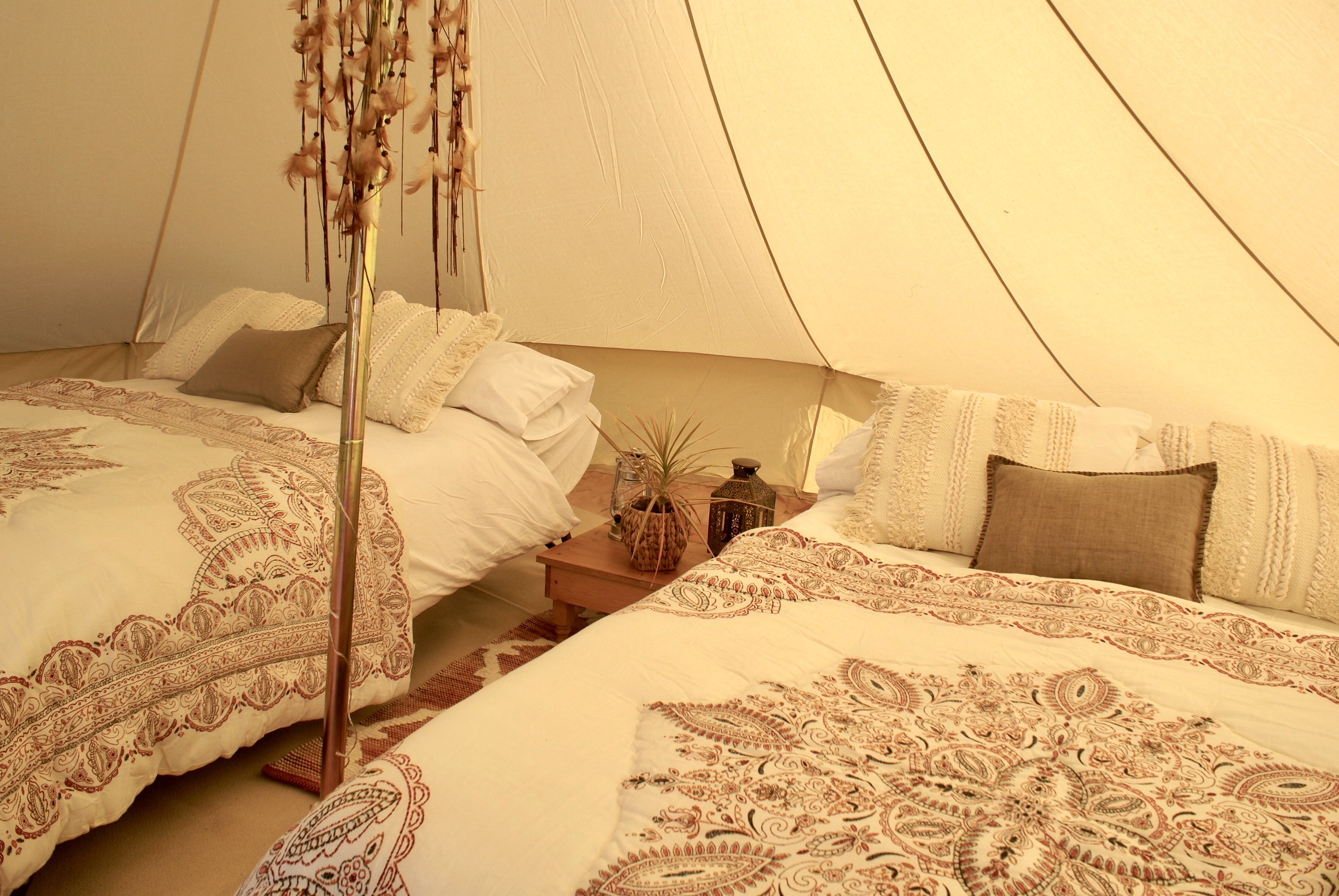 Luxury bell tent hire