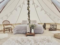 Wedding bell tent - wedding glamping