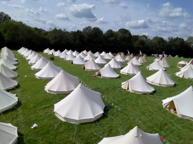 Bell tent village Sussex