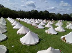Bell tent village Sussex