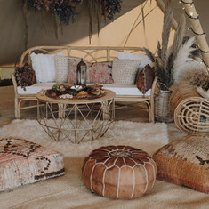 Tipi interior chill out furniture