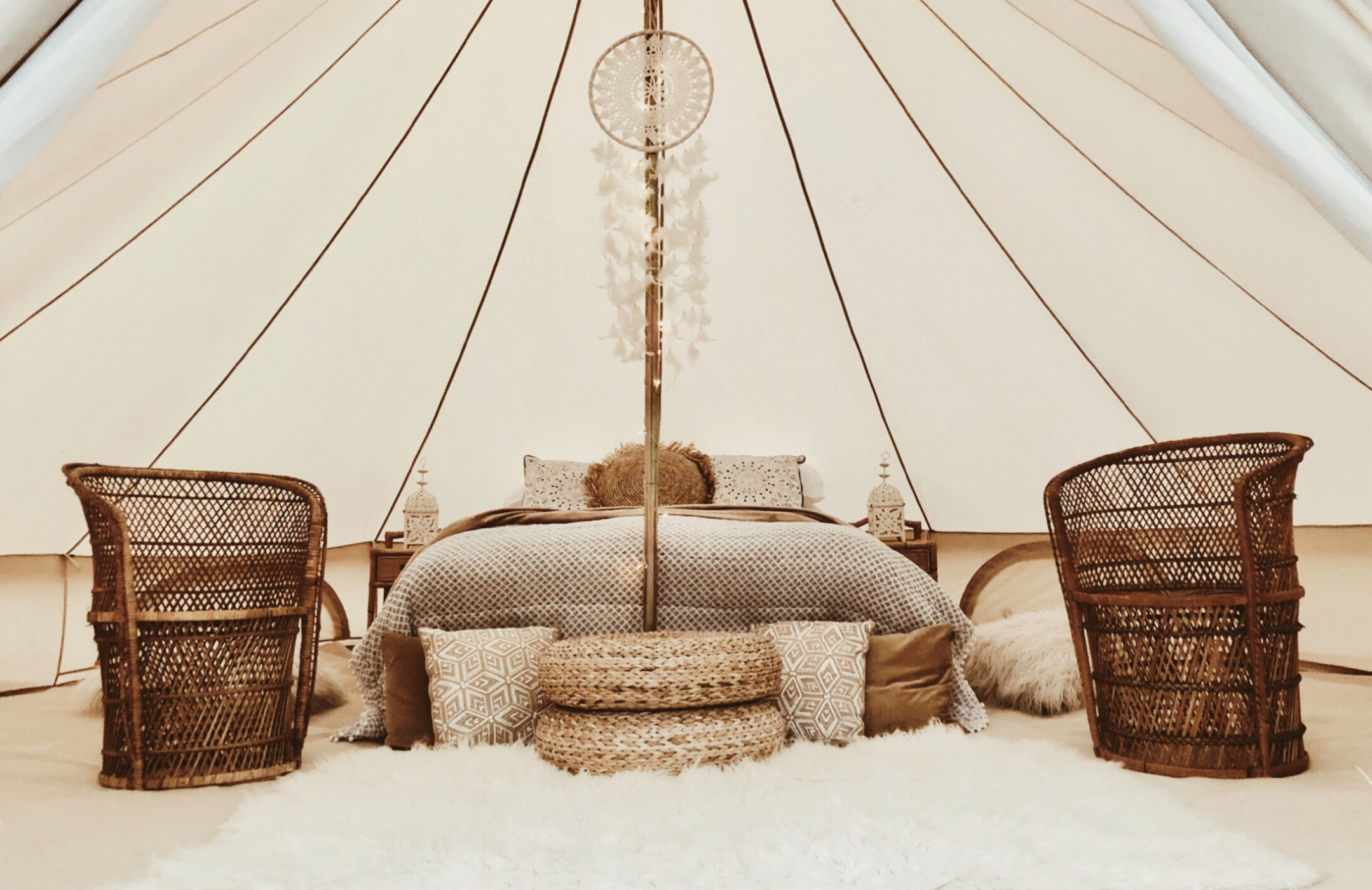 Nordic boho honeymoon suite