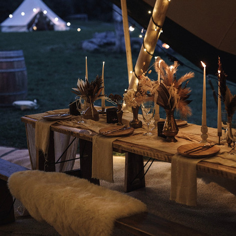 Festival wedding tipi and bell tents