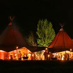 Festival wedding tipi - Sussex, Kent, Surrey