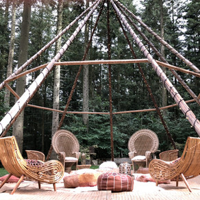 Naked tipi inspiration - from chill out lounges, to dj booths and ceremony areas