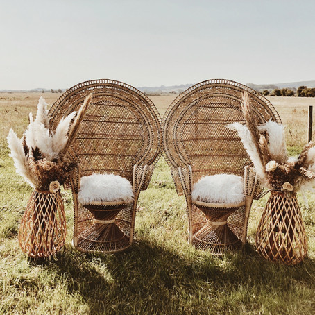Prop & furniture hire - from peacock chairs to rustic wedding arches