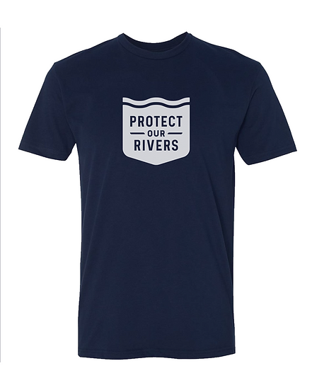 Classic Protect Our Rivers Tee - Navy