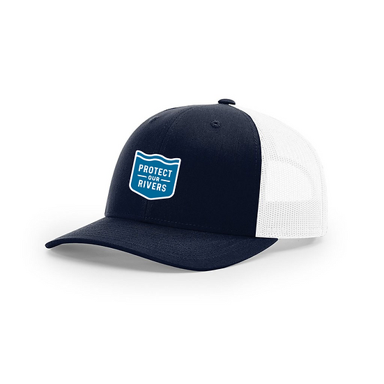 Protect Our Rivers Navy Trucker Hat