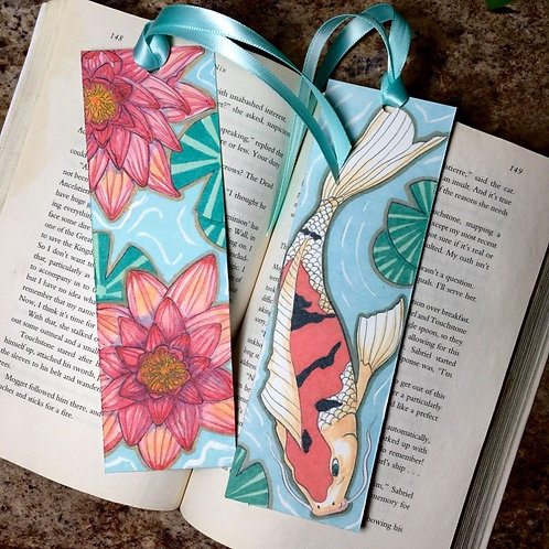 Koi and Lily Bookmark