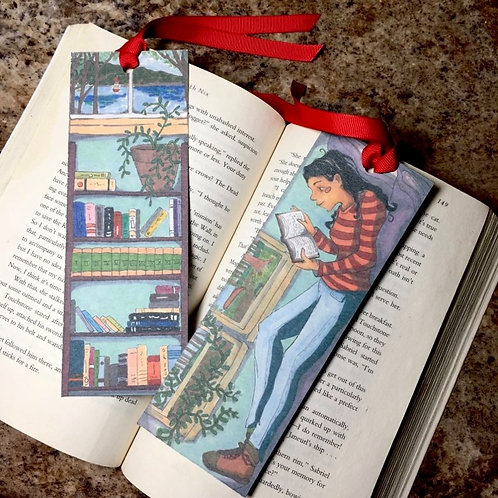 Reading On a Sunny Day Bookmark