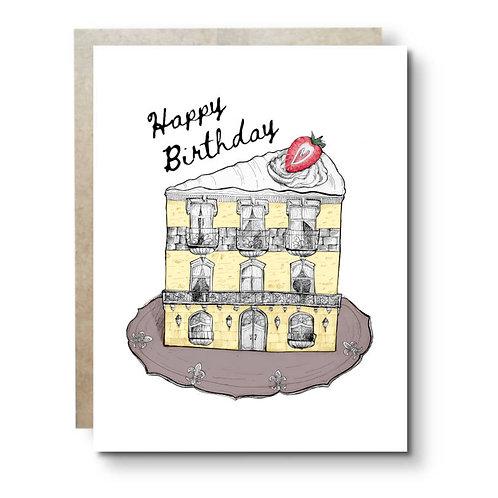 Cake Hotel Birthday Card
