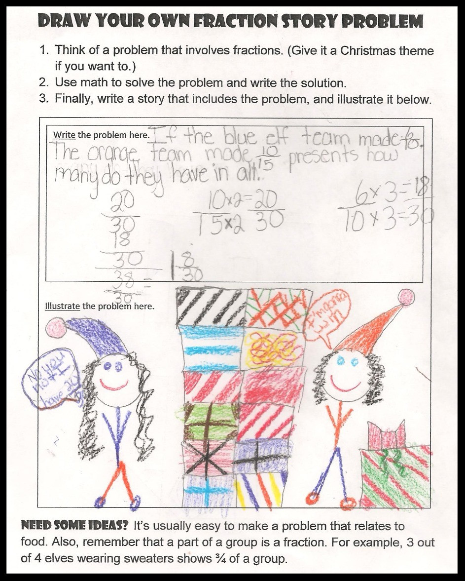 Fraction Story Student Example 2