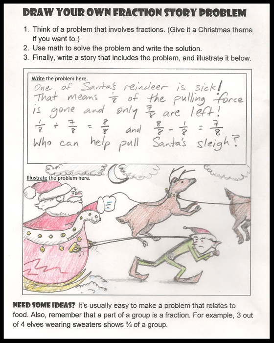 Creating Fraction Story Problems